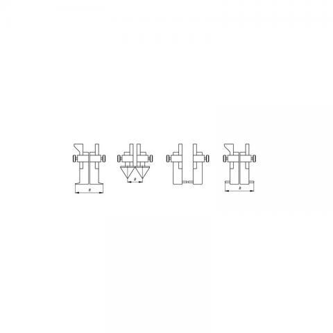 Штангенциркуль цифровой универсальный ШЦЦУП-1000 - схема