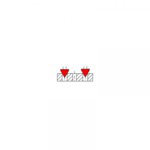 Штангенциркуль для измерения межцентровых расстояний ШЦЦМ-1500BT - схема