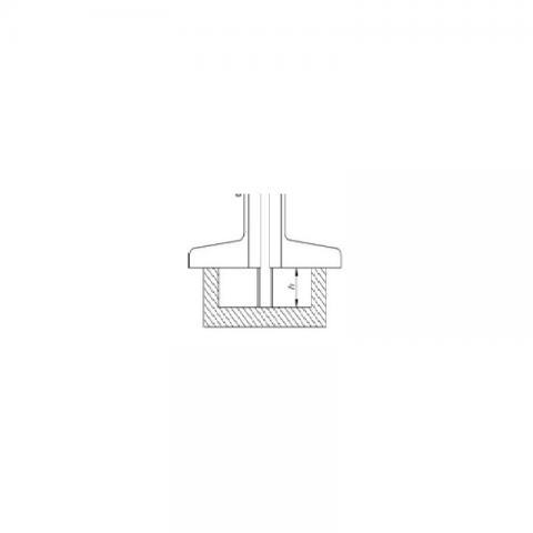 Штангенглубиномер нониусный ШГ-1000 - схема