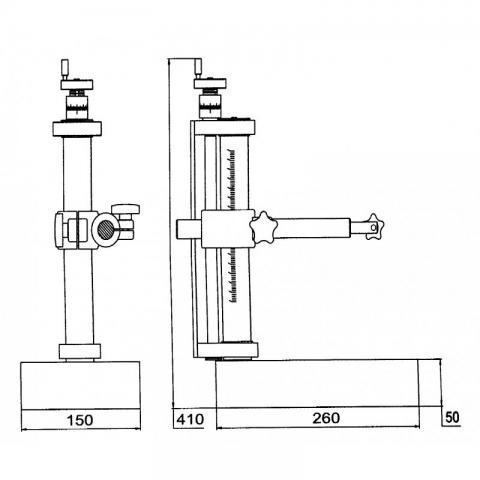 Стойка прецизионная гранитная СГТ-200 габаритные размеры