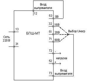 Схема подключения блока БПШ-МТ