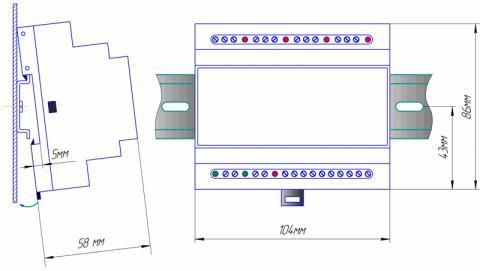 Схема детектора уровня жидкости ДУЖ