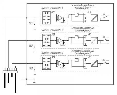 Функциональная схема реле контроля уровня жидкости РСУ-31