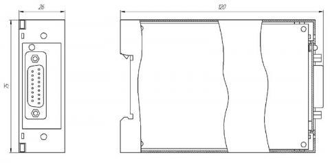 Схема габаритов блока преобразования БПО-32