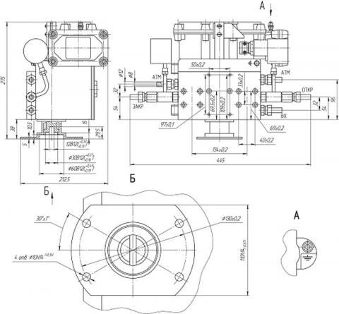 Схема габаритов блоков управления БУК-2