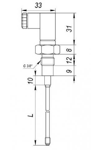 Схема габаритов датчиков ДК-1