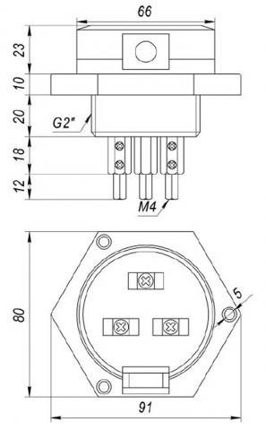 Схема подключения датчика уровня ДК-3
