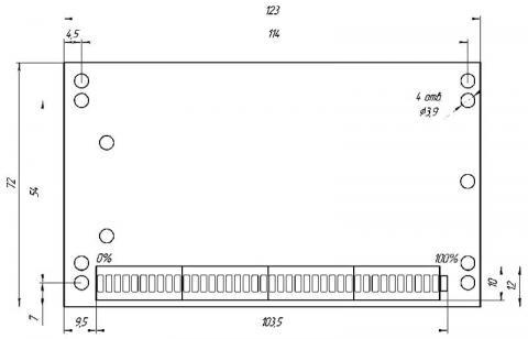 Схема габаритов индикатора ИТМ-1