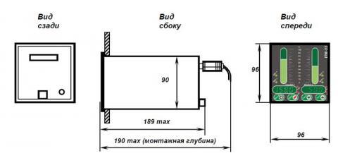 Схема габаритов индикатора ИТМ-20У, ИТМ-22У