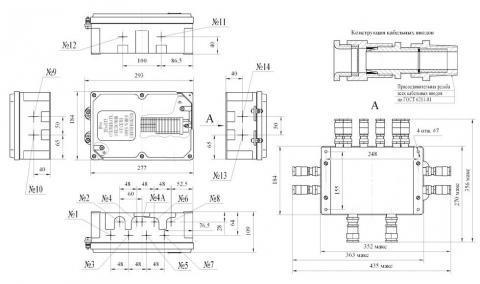Схема габаритов соединительной коробки КС-2