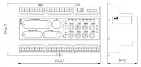 Схема габаритов контроллера МИК-51Н