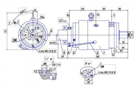 Схема габаритов насосов типа НА...74М