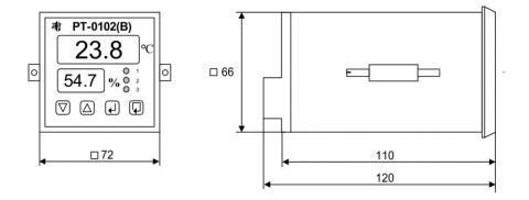 Схема габаритов регулятора РТ-0102(В)