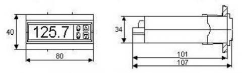 Схема габаритов регулятора РТ-0102ST