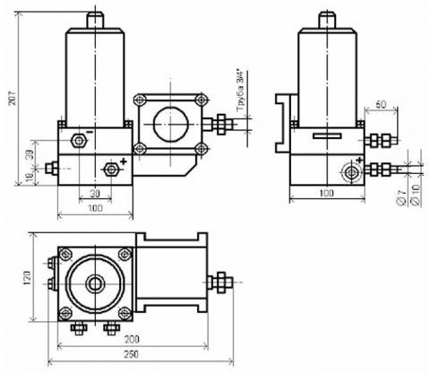 Схема габаритов сигнализаторов СПД-10/120