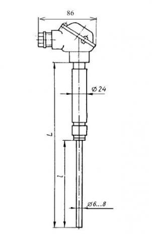Схема габаритов преобразователей ТВР-0687