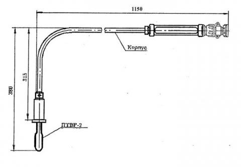 Схема габаритов преобразователя ТВР-301-01
