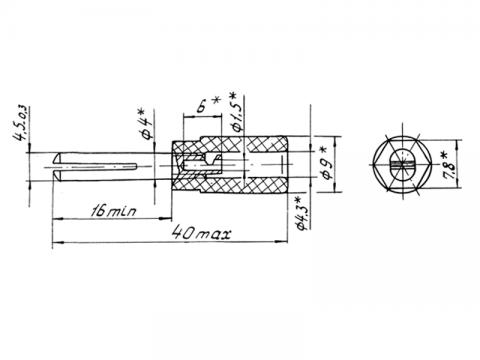Штепсель ШП 4-2 - схема