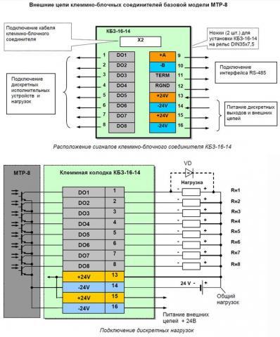 Схема подключения терморегулятора МТР-8