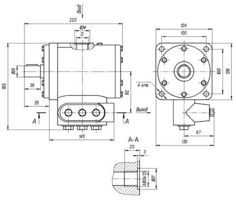Схема габаритов Н-400ЕР, Н-400УР