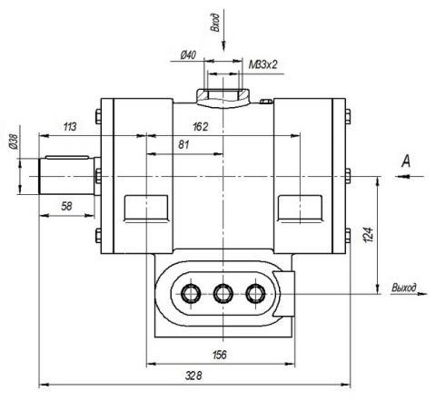 Схема габаритов насоса Н-401ЕР