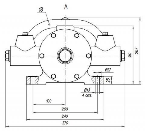 Схема габаритов насоса Н-403ЕР