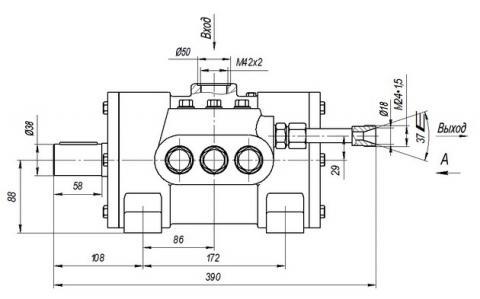 Схема габаритов насоса Н-403УР