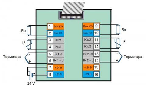 Схема подключения блока преобразования БПТ-22