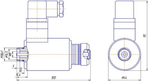 Конструктивная схема №2 - привод гидрораспределителя типа РЕ 6 – В – Г *-УХЛ3
