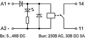 Рис.1. Электрическая схема реле RM 1