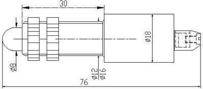 Рис.1. Габаритные и присоединительные размеры арматуры светодиодной АСКМ-С-12У-50мА-2к