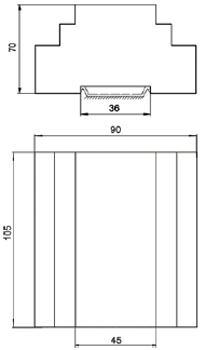 Рис.1. Габаритные и присоединительные размеры блока управления БУАВР.ЭА.Т