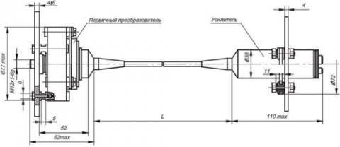 Рис.1. Габаритные и присоединительные размеры датчика давления ВТ 222 М