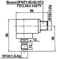 Рис.1. Габаритные и присоединительные размеры датчика СД-722