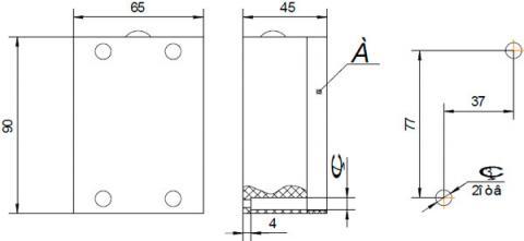 Рис.1. Габаритные и присоединительные размеры фотореле ФР-03