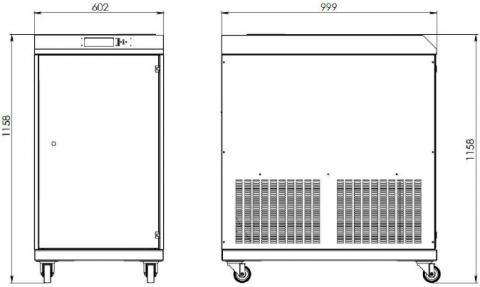 Рис.1. Габаритные и присоединительные размеры инвертора 30 кВА