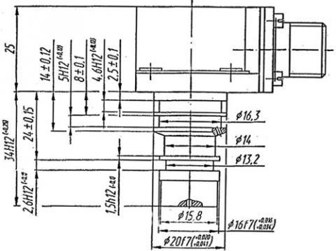 Рис.1. Габаритные и присоединительные размеры сигнализатора перепада давления СПД-0,4