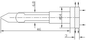 Рис.1. Габаритные размеры арматуры светодиодной АСКМ-С-12Л-14БСД