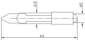 Рис.1. Габаритные размеры арматуры светодиодной АСКМ-С-12Л-5