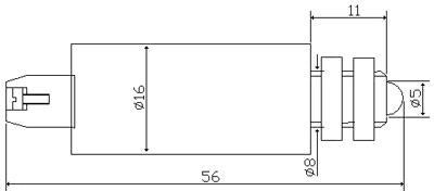 Рис.1. Габаритные размеры арматуры светодиодной  АСКМ-С-50мА-2к