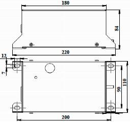 Рис.1. Габаритные размеры блока конденсаторов БК-4700М