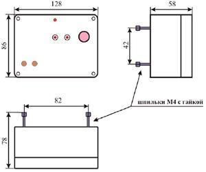 Рис.1. Габаритные размеры блока управления БАУ-ТП-4
