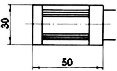 Рис.1. Габаритные размеры датчика измерения температуры ТЭМ 000