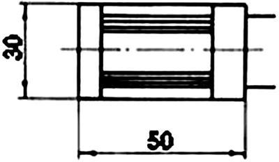 Рис.1. Габаритные размеры датчика измерения температуры ТЭП 012