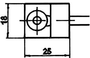 Рис.1. Габаритные размеры датчика измерения температуры ТЭП 018