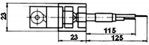 Рис.1. Габаритные размеры датчика измерения температуры ТМ 006