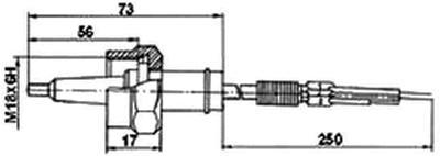 Рис.1. Габаритные размеры датчика измерения температуры ТМ 119
