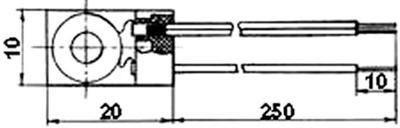 Рис.1. Габаритные размеры датчика измерения температуры ТМ 232