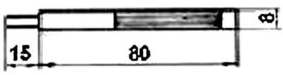 Рис.1. Габаритные размеры датчика измерения температуры ТП 025