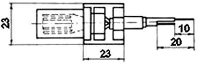 Рис.1. Габаритные размеры датчика измерения температуры ТП 041